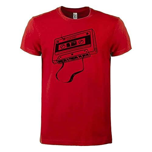 CHENHUA Camiseta DJ personalizada con nombre, cinta vintage apodo personalizado, rosso, M