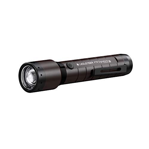 Ledlenser, P7R Signature, LED Taschenlampe, 2000 Lumen, mit Akku, wiederaufladbar, wasserfest, fokussierbar, Leuchtweite 330 Meter, Leuchtdauer bis zu 90 Stunden, mit Magnetladekabel, Espresso Brown