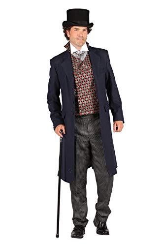 Thetru Herren Kostüm Biedermeier Gentleman Anzug Karneval Fasching Gr.2XL