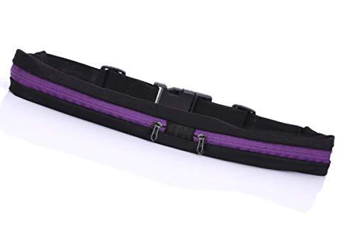 lvenyz Impermeable bolsa de deportes corriendo bolsillos de la cintura jogging portátil ciclismo al aire libre moneda teléfono móvil antirrobo bolsa