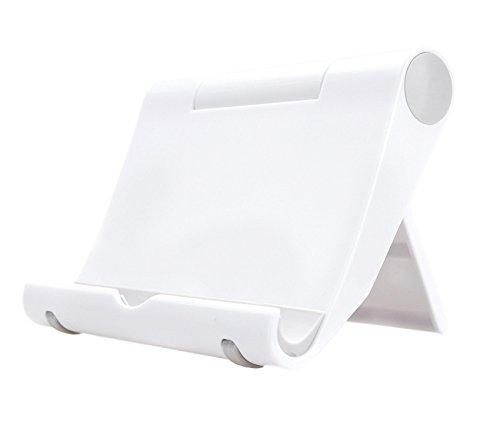 Multi-Winkel Handyständer Smartphone Ständer Handyhalter für Tablets Phablets E-Reader iPhone iPad bis 10 Zoll Verstellbar (weiß)