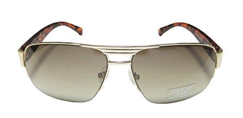 Guess Mens GU6831/130 Rectangular Fashion Sunglasses, Gold