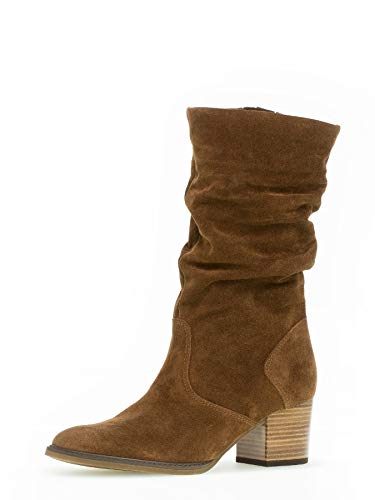 Gabor Damen Stiefel 32.894, Frauen Stiefel,Boots,Lederstiefel,Langschaftstiefel,Reißverschluss,Whisky (Mic/S.amb),40 EU / 6.5 UK