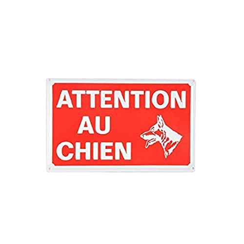 Ami Confort 6ANI642 Plaque attention chien 16x10cm, Rouge