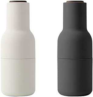 MENU 4418369 Bottle Grinder Set With With Walnut Lid, One Size, Carbon/Ash
