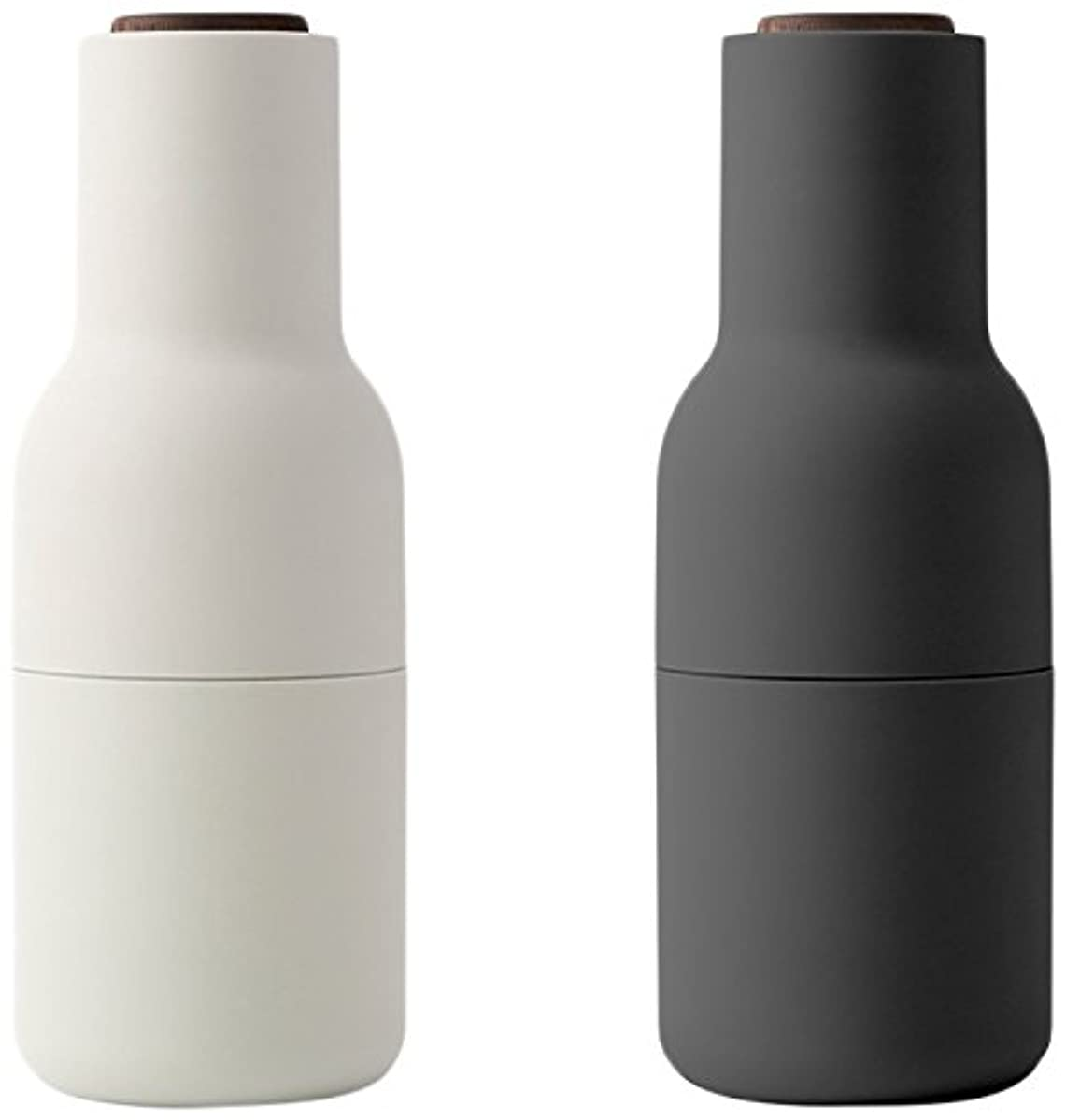 MENU 4418369 Bottle Grinder Set With With Walnut Lid, Carbon/Ash