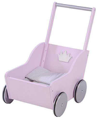 roba Puppenwagen 'Sophie', inkl. textiler Ausstattung, rosa silber, durch schwenkbaren Bügelgriff beidseitig befahrbar