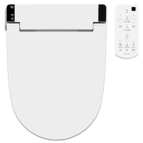 VOVO STYLEMENT VB-6000SE Electronic Smart Toilet Bidet Seat, Heated Seat, Warm Dry and Water, LED Nightlight, One-piece Bidet Toilet Seat, Elongated - White