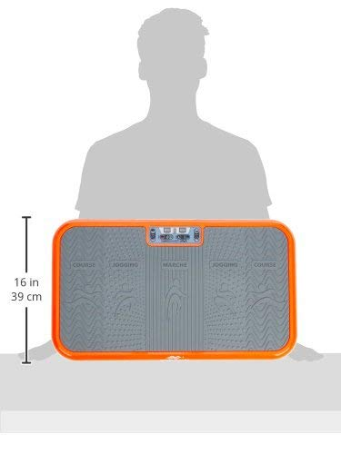 Mediashop Vibro Shaper Vibrationsplatte Ganzkörper Trainingsgerät rutschfest große Fläche inkl Trainingsbänder Ernährungsplan das Original