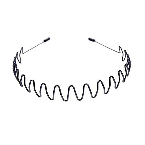 Slip Headband Men Sports Hairband Accessoires pour cheveux Ensemble de 2