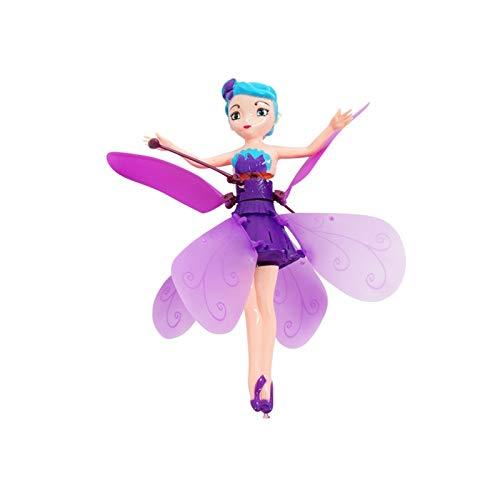 JEEUE Jouet Avions Induction vol Fée poupée dadmission à Commande Avion RC Jouets Enfants Ballet Fille Volant Princesse Jouet infraed Induction Avion (Color : Purple)