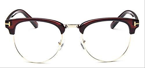 8bayfa Sonnenbrille Medium Metall Brille für Frauen Rahmen für Herren Brille Rahmen Vintage Gläser Quadratische Gläser Optische Brille Tee
