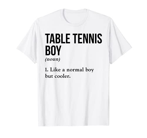 Tenis de mesa Boy Nombre Definición Pingpong Torneo Pelota Camiseta
