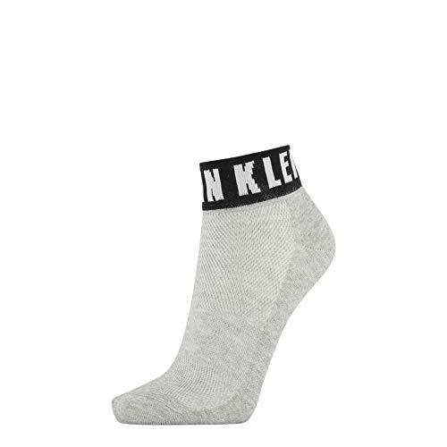 Calvin Klein Socks Womens Modern Logo Women's Quarter (1 Pack) Socks, Light Grey Melange, ONE Size