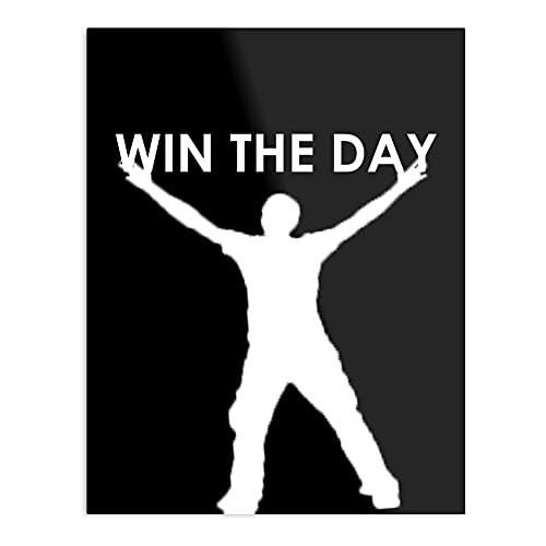 Póster decorativo de pared de Win The Day B White Font Design & Art Print
