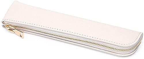 XINYUDAGE Bleistiftkasten frisches Leder Bleistift Fall Mini Stift Tasche kreative und einfache Make-up Tasche Tasche Mode Bleistift hülle für mädchen bleistasche Tasche-Beige Iteration