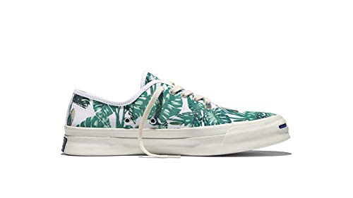 Converse Unisex Jack Purcell Signature CVO 'Tropical Print' Ox White/Holly Green 9.5 Men/Women 11