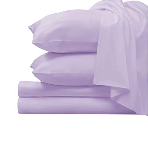 Pizuna 1000 Thread Count Cotton Lavender Sheets Queen, 100% Long...