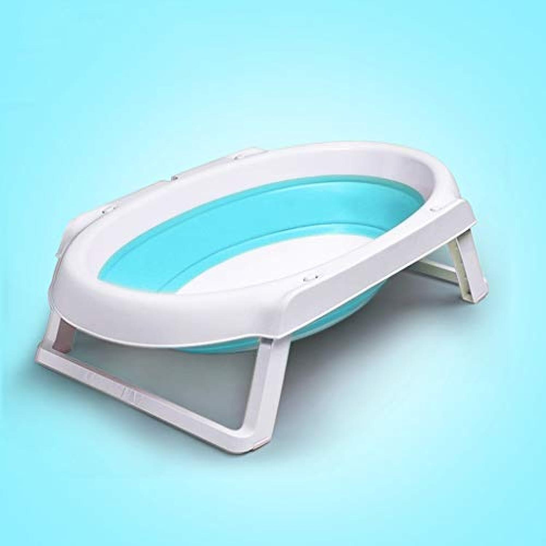 Ali@ Neugeborenes Baby kann in Einer universellen zusammenklappbaren universellen Wanne für Innen-   im Freiengebrauch liegen (Farbe   Blau tub)