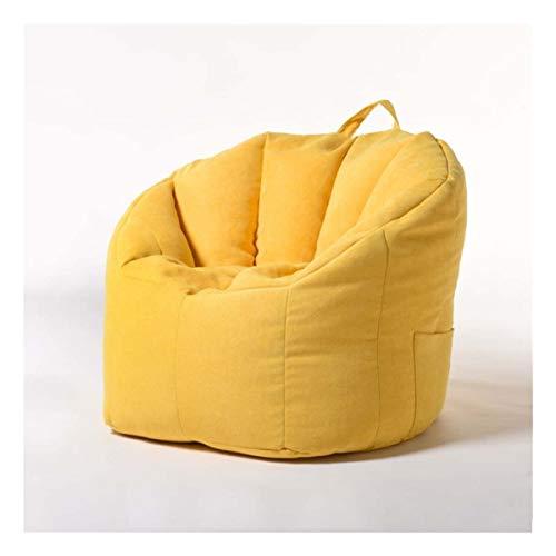 RJJX Home Bean Bag Abdeckung Sofa, Stuhl Füllbeutels Lounger Sofa Ottoman Sitz Wohnzimmer Möbel Ohne Filler Beanbag Puff Puff Couch (Color : Yellow)