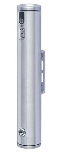 Vestil SMK-W-19A Wandmontierter Smoker Poller, Aluminium, 7,6 cm Außendurchmesser, 48,3 cm Höhe