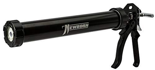 Newborn 620AL-BLACK Round Rod Gun with Aluminum Barrel, 18:1 Thrust Ratio, 20 oz. Sausage, Black