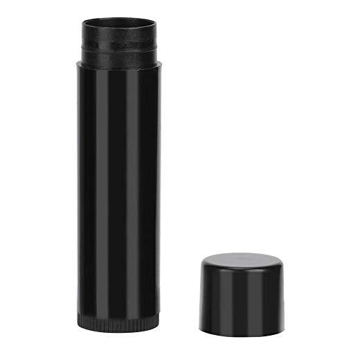 Atyhao Tube de Rouge à Lèvres, 100 Pièces 4,2 g/5 ML Mini Tube de Rouge à Lèvres Vide Bricolage Noir Baume à Lèvres Rond Récipient Outils Cosmétiques