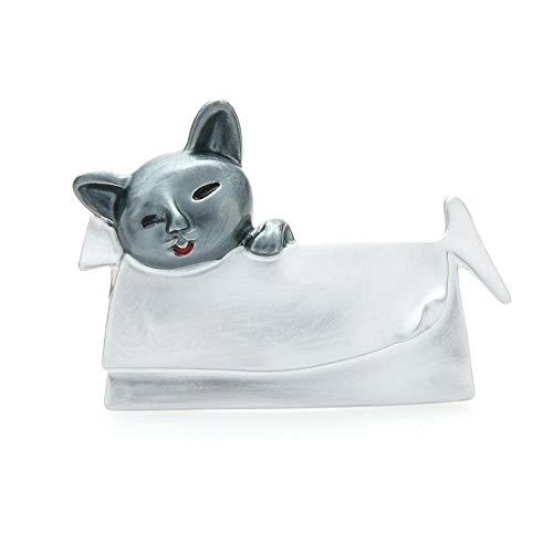 Retro Broche Pin Broches De Animales Esmaltados para Gatos Durmiendo En La Cama