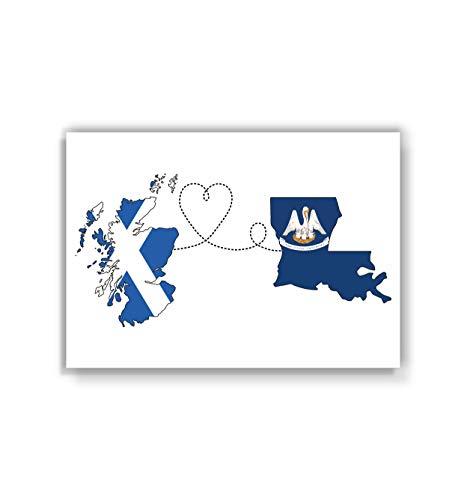 Scotland to Louisiana Poster - Travel print