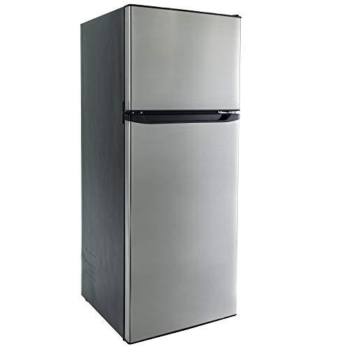 RecPro RV Refrigerator Stainless Steel | 10.7 Cubic Feet | 12V | 2 Door Fridge