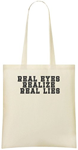 Real Eyes realisiert echte Lügen - Real Eyes Realizes Real Lies Custom Printed Shopping Grocery Tote Bag 100% Soft Cotton Eco-Friendly & Stylish Handbag For Everyday Use Custom Shoulder Bags