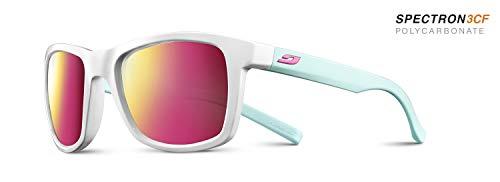 Julbo Unisex Beach Sonnenbrille, Glänzend weiß/blau mint, Einheitsgröße