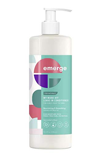 Emerge My Mane Bff Moisturizing Leave-In Conditioner 15.5 Fl. Oz! Infused With Almond Milk And Pequi Oil! Moisturizing Formula Nourishes And Smoothes! Leave In Conditioner For Curly And Coily Hair!