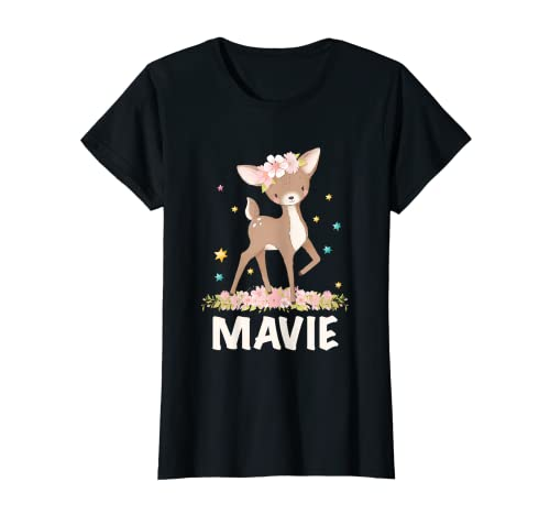 Letra de nombre de niña leonado Mavie Camiseta