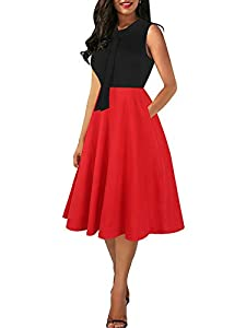Note:Hand-wash and Machine washable, Dry Clean.The material is soft, fits perfectly, has good deep pockets that don't look strange with keys and phones weighing down the skirt. You can wear a normal bra with this dress.It is very flattering. Oxiuly V...