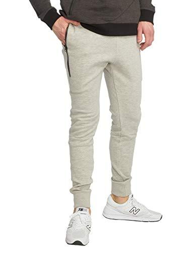 Just Rhyse Herren Jogging Hose Big Pocket Tech Baggy Sweat Pants Streetwear, Farben:Grau, Größe Hosen:S
