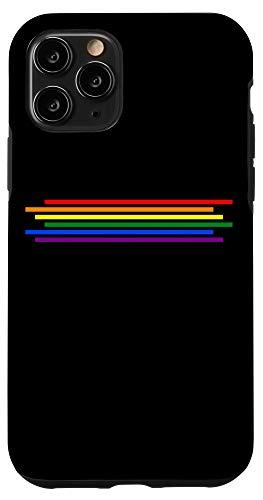 iPhone 11 Pro LGBT Gay Lesbian Pride Flag Rainbow Black Phone Case