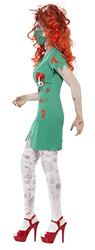 SMIFFYS Smiffy's 24373S - Zombie Scrub Nurse Costume con Dress & Facemask, Verde, S