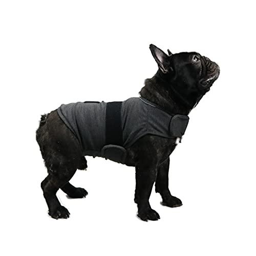 TT.WALK Beruhigungswesten für Hunde,Hundemantel zur Linderung von Angst,Anti Angst Jacke Beruhigende Wickelweste für kleine mittlere und große Hunde,Dunkelgrau,M