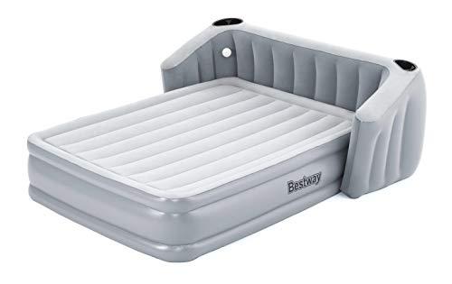 Bestway 67620 Airbed - Colchón de matrimonio completo con cabecero, 233 x 196 x 80 cm, con bomba integrada, Multi, 233 x 196 x 80 cm