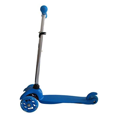 Mi-Duo Tante Tina - Kinder Scooter / Roller mit leuchtende Räder - 3-rädig - Blau