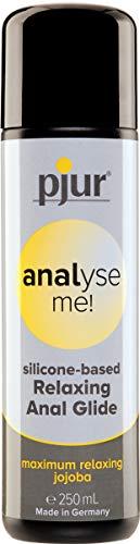pjur analyse me! Relaxing Silicone Anal Glide - Silikon-Gleitgel für komfortablen Analsex - extra lange gleitfähig - mit Jojoba (250ml)