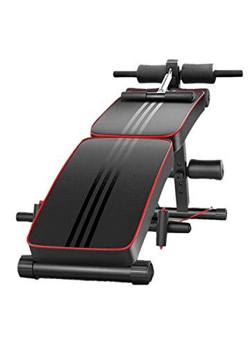 KAIXIN Dispositivo Abdominal Multifuncional Fitness Máquina De Banco De Abdominales Plegable Portátil para El Hogar Tabla De Ejercicios Equipos De Ejercicio Abdominal Gimnasio