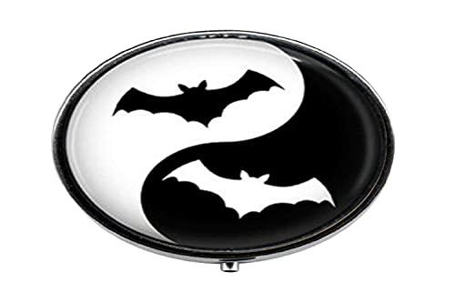 Ying Yang - Píldora de cristal para fotos de murciélago, caja de cristal para pastillas, caja de cristal