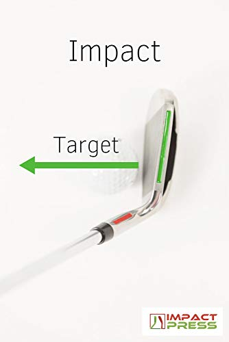 Impact Press Training Aid - Golf Club and Swing Trainer for Improving Impact