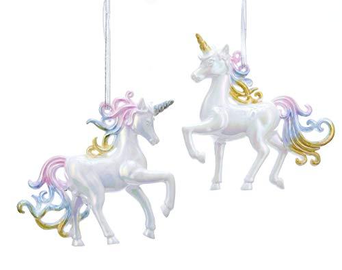 The Bridge Collection Iridescent Unicorn Ornaments, Set of 2 Assorted