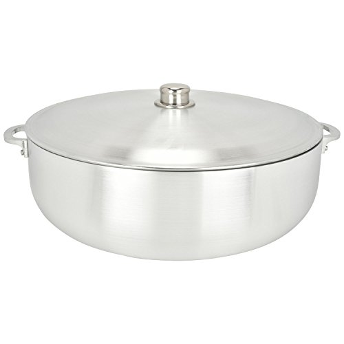 ALUMINUM CALDERO STOCK POT by Chef Pro, Aluminum, Superior Cooking Performance for Even Heat Distribution, Perfect For Serving Large and Small Groups, Riveted Handles, Commercial Grade (28.4 Quart)