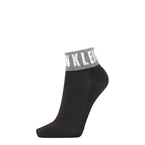 Calvin Klein Socks Womens Modern Logo Women's Quarter (1 Pack) Socks, Black, ONE Size