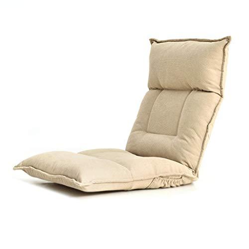 N/Z Life Equipment Floor Lounger Coussin de siège Coussin de Sol Chaise de Sol avec Dossier Lazy Sofa Bed Pliable Rembourré Réglable Easy Lounge (Couleur: Jaune)