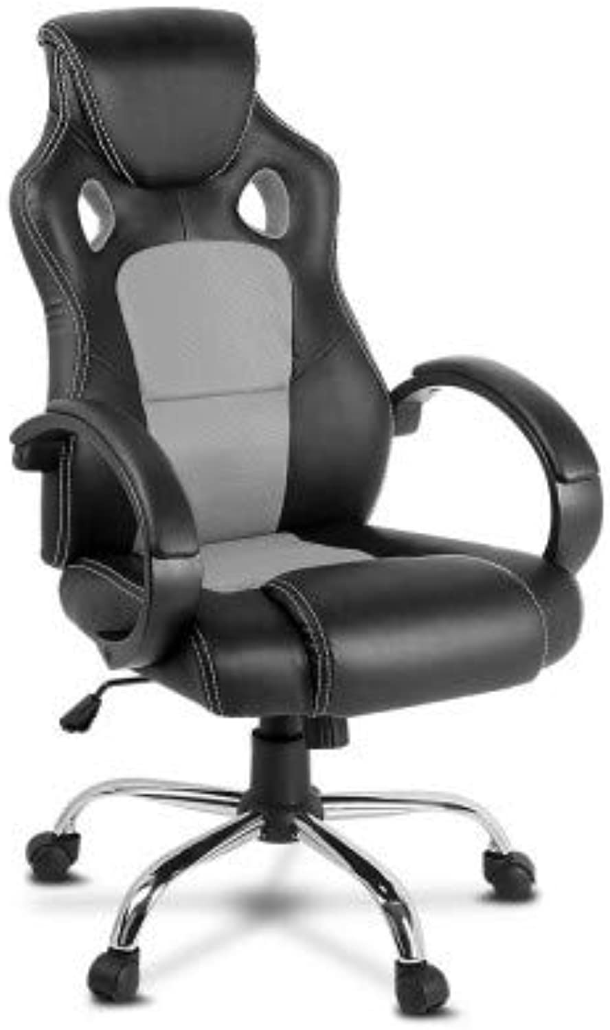 Racing Style Gaming Chair, PU Leather - Grey
